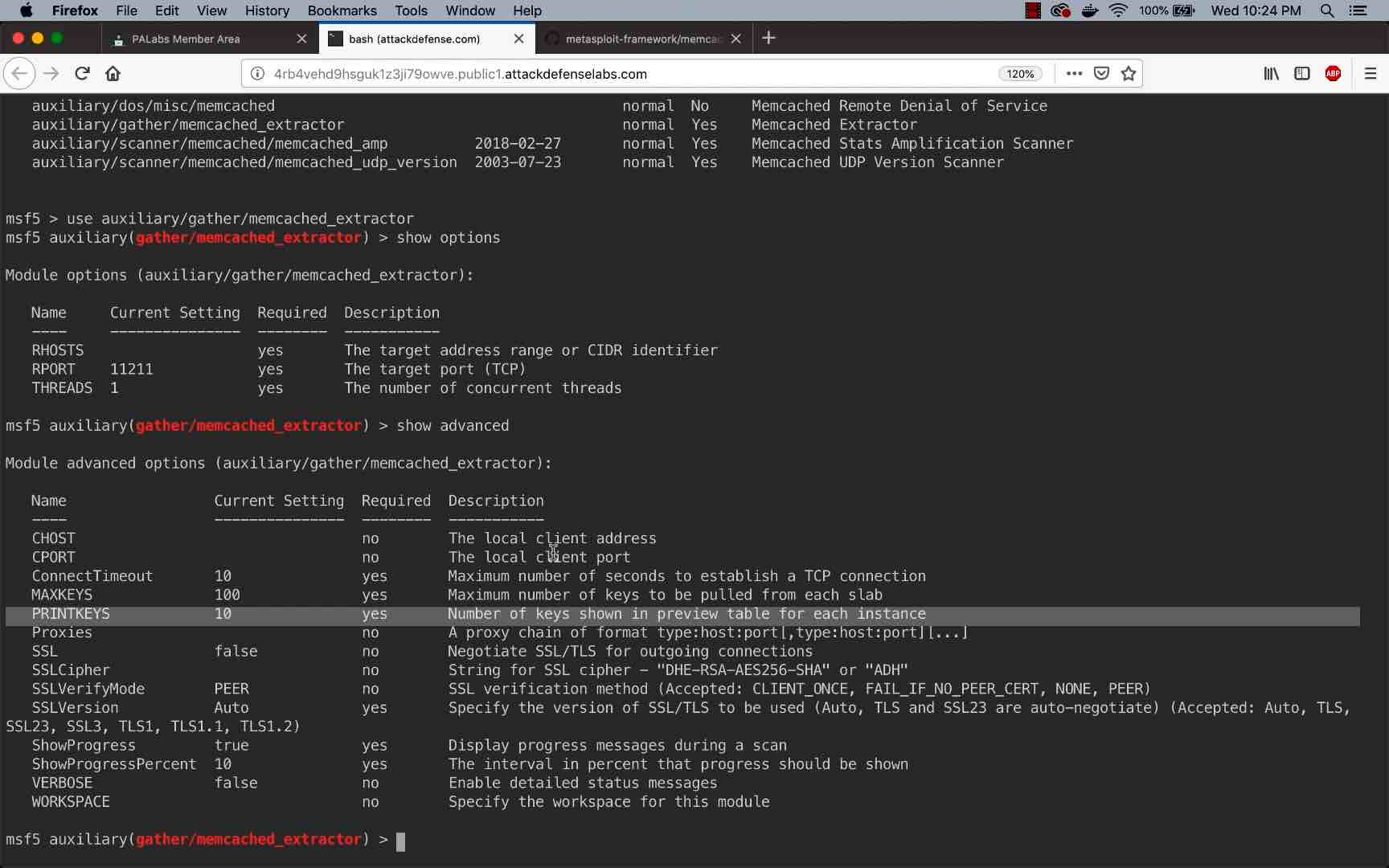 Memcache Servers Part 7: Metasploit Memcache Enumeration