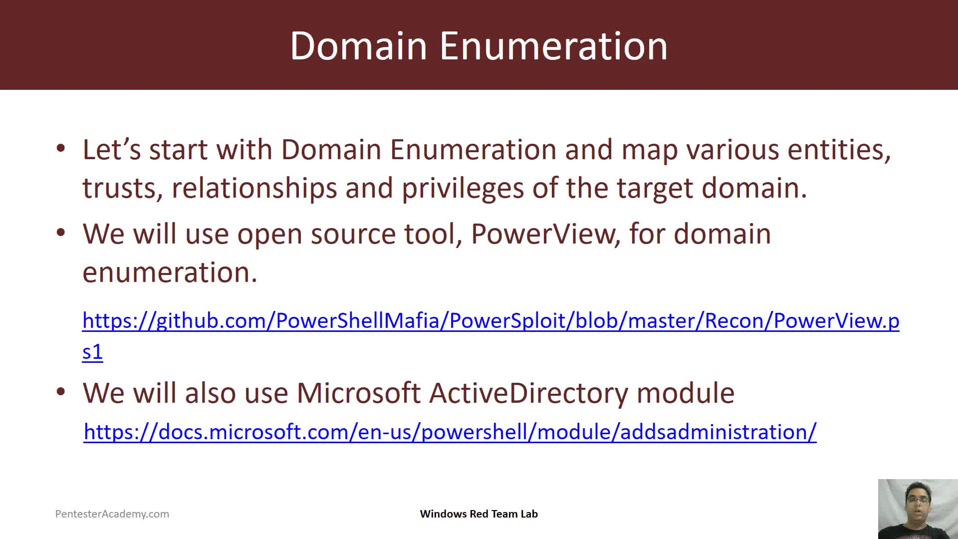 Domain Enumeration Techniques | Windows Red Team Lab