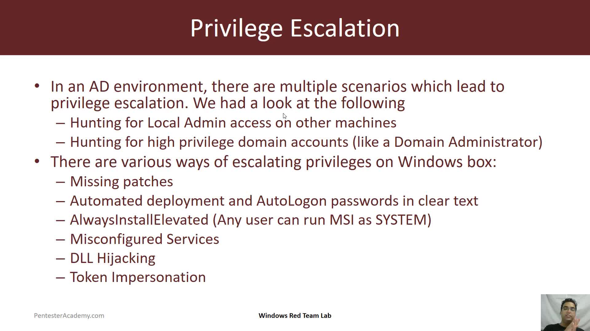 Local Privilege Escalation