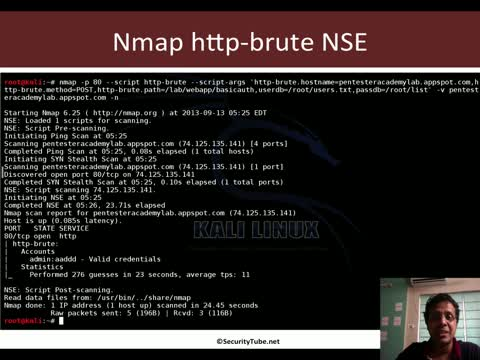 Attacking HTTP Basic Authentication with Nmap and Metasploit