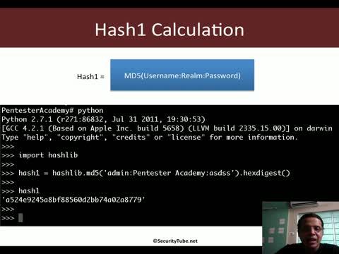 HTTP Digest Auth Hashing (RFC 2069)