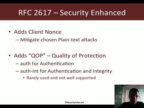HTTP Digest Authentication (RFC 2617)