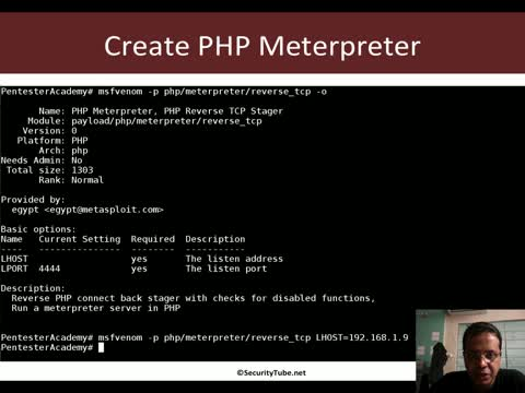 Web Shell: PHP Meterpreter