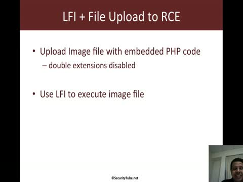 Remote Code Execution with LFI and File Upload Vulnerability