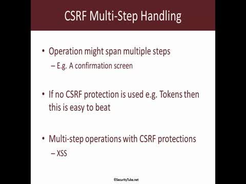CSRF Multi-Step Operation Handling