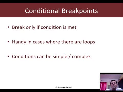 Conditional Breakpoints Using Variables And Registers