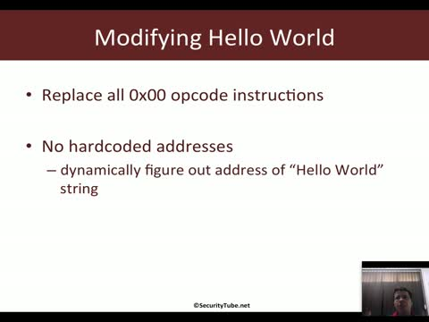 Hello World Shellcode using JMP-CALL-POP Technique