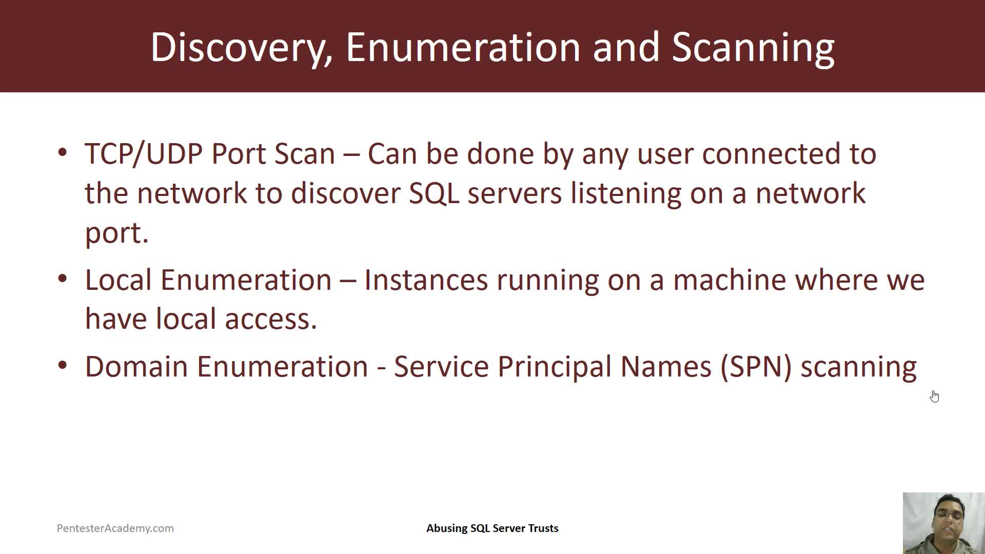 Discovering SQL Server within the Domain