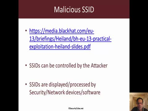 Malicious SSID: HTML Injection and XSS