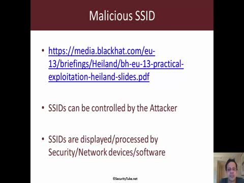 Malicious SSID: CSRF