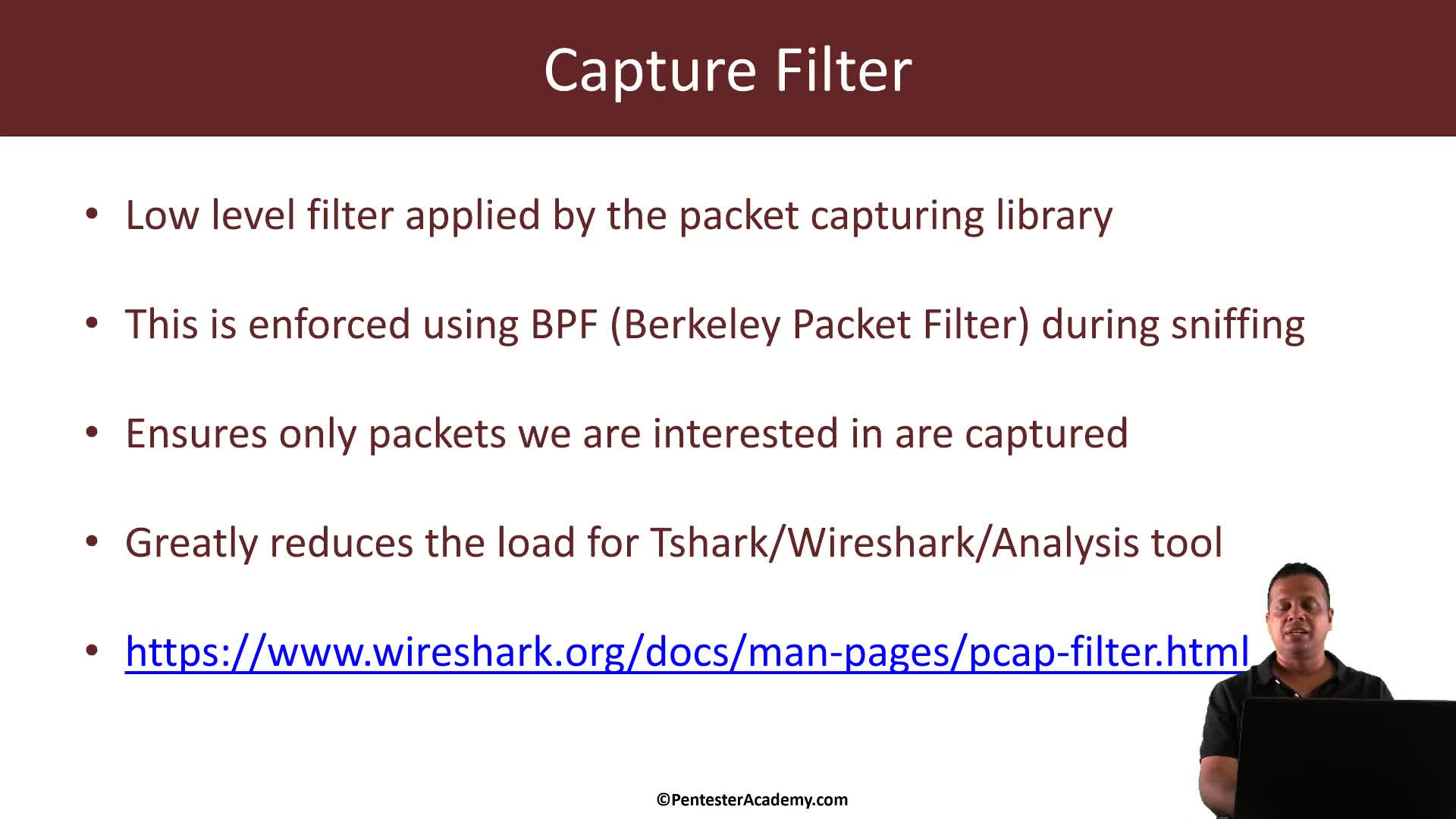 Tshark: Display and Capture Filters via Command Line