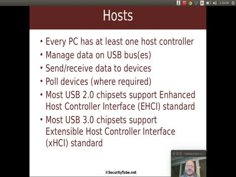 USB Hosts and Hubs