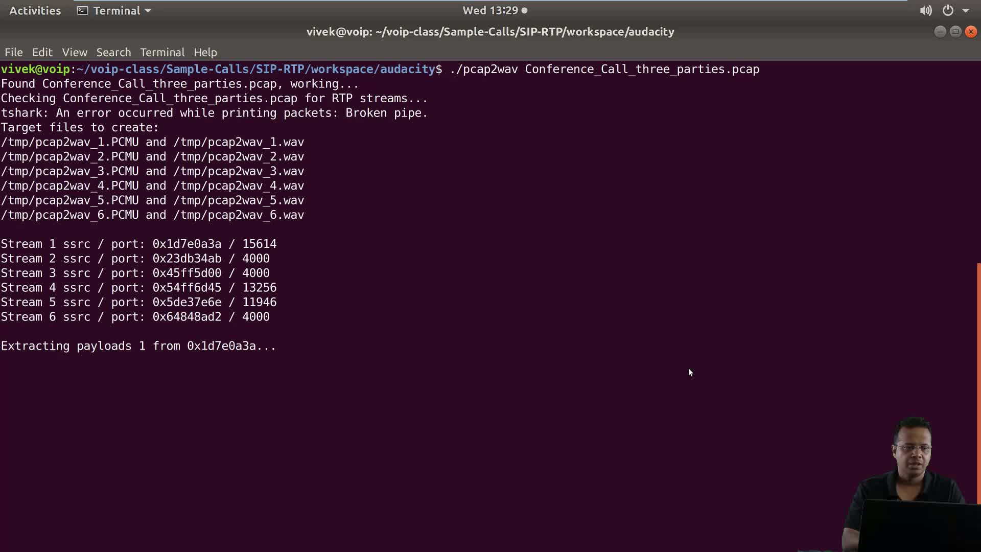 Using Audacity to Analyze VoIP Voice Data