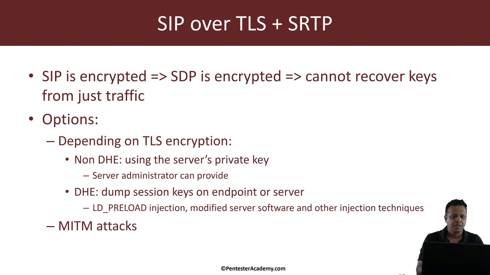 SIP over TLS + SRTP: Decrypting Voicemail