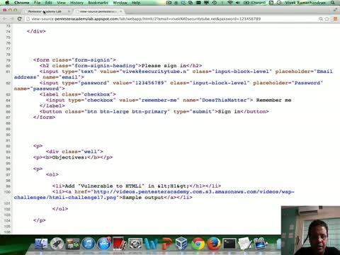 Challenge 17: HTML Injection II Solution