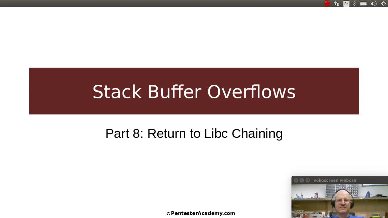Stack Buffer Overflows Part 8: Return to Libc Chaining