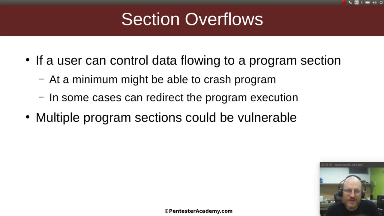 Section Overflows