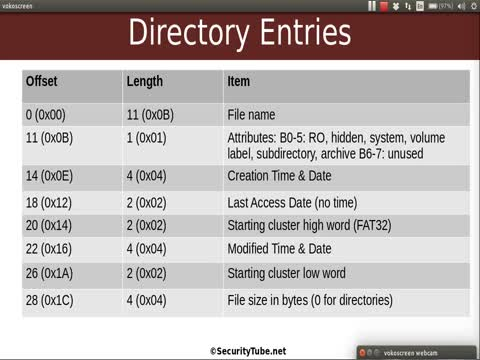 File Allocation Table Part 8: Directory Entries