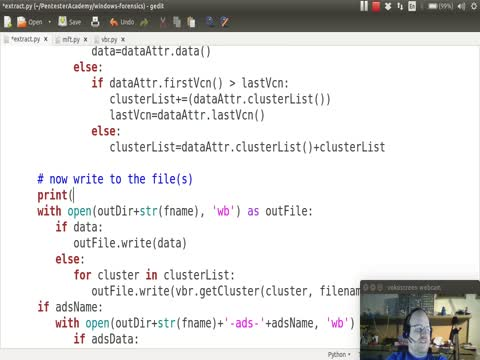 Python and NTFS Part 11B: Extracting Files & Directories