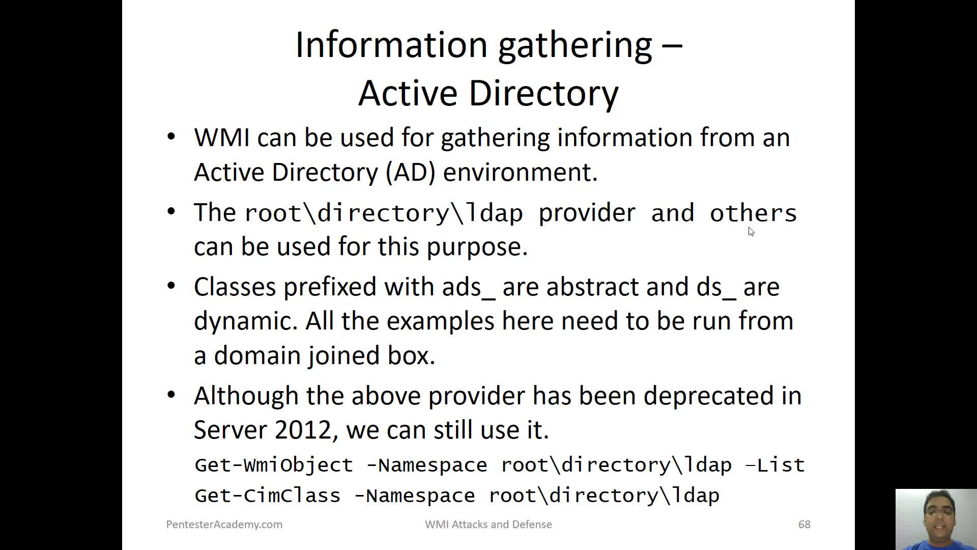 Active Directory Enumeration with WMI