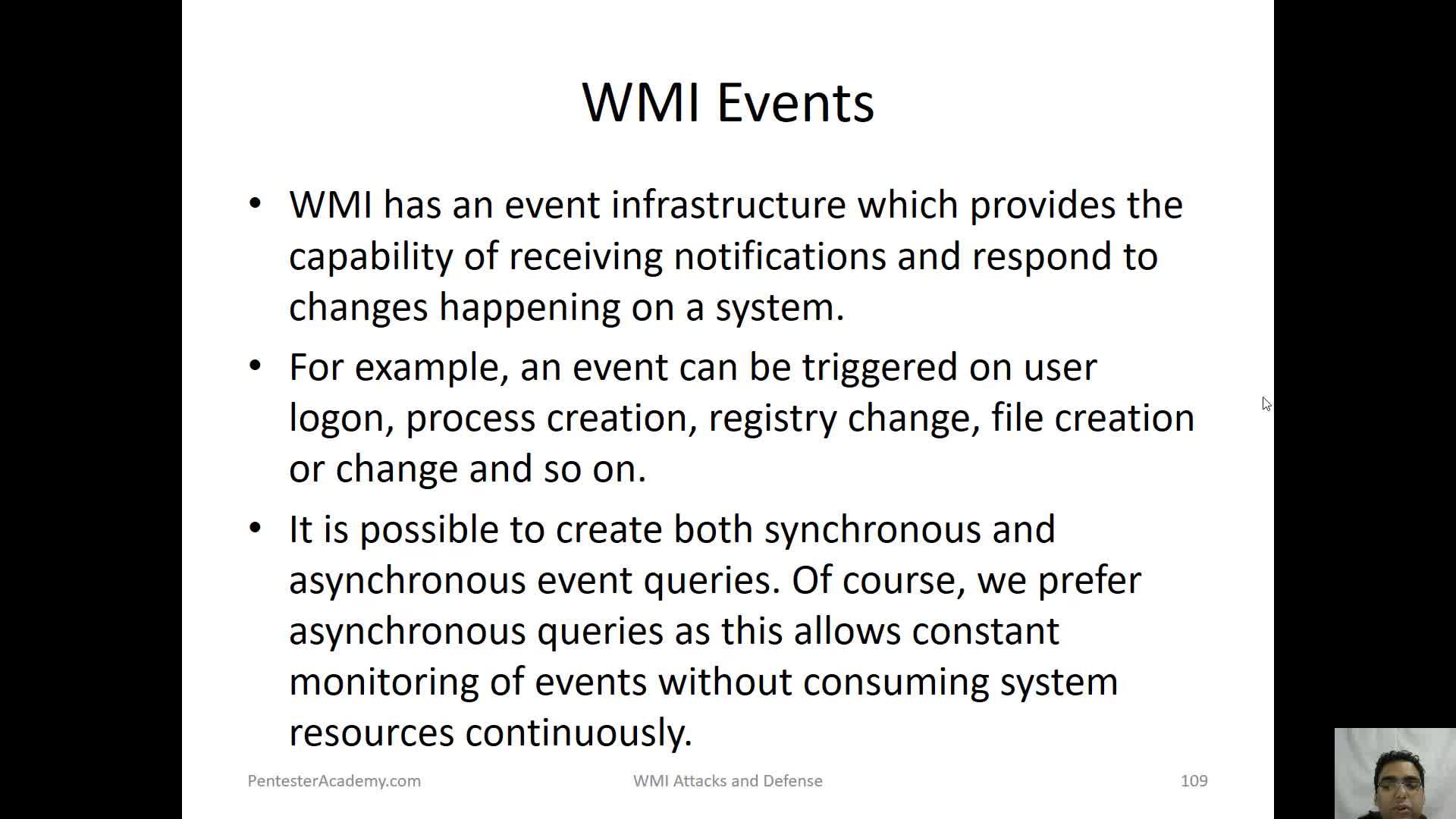 WMI Events