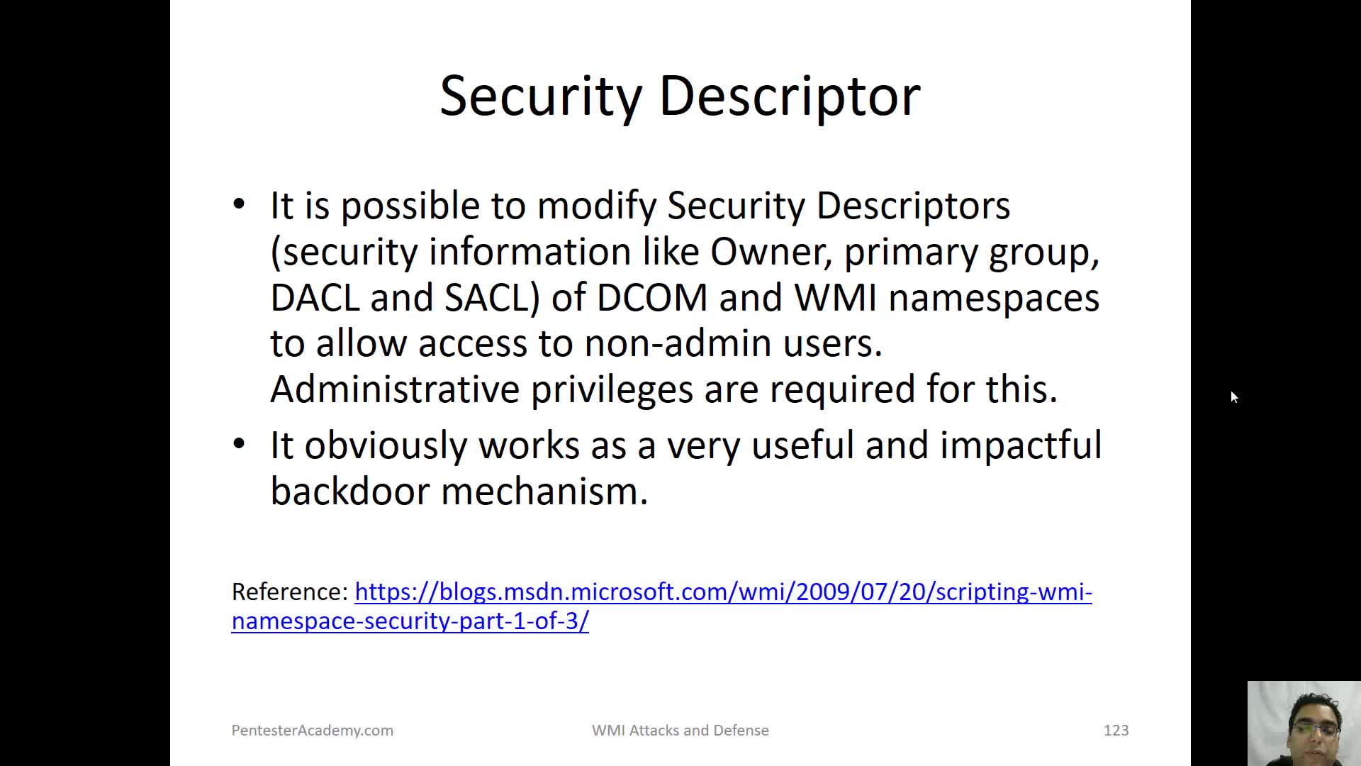 Security Descriptor | WMI Attacks and Defense