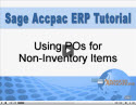 Using Purchase Orders for Non-Inventory Items