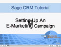 Setting Up an E-Marketing Campaign in Sage CRM