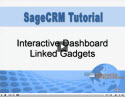Interactive Dashboard Linked Gadgets in Sage CRM