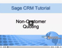 Non-Customer Quoting w/Sage 300 ERP Integration