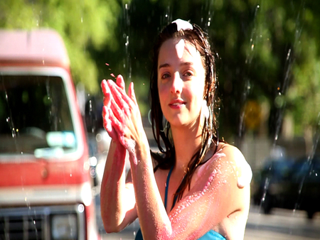 Babe in Sprinkler