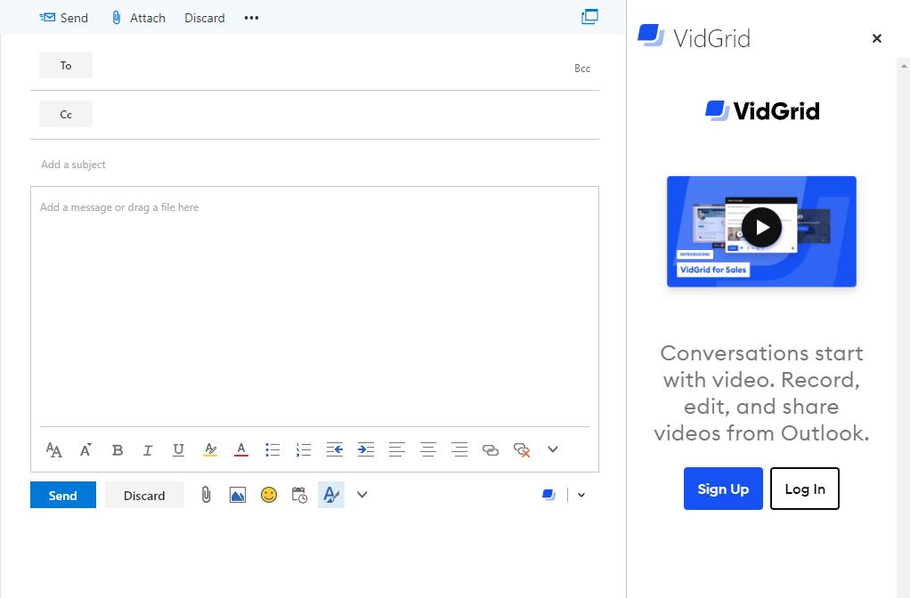 Video Outlook Integration