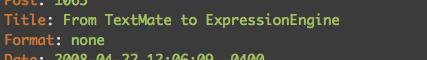 Textmate Formatting