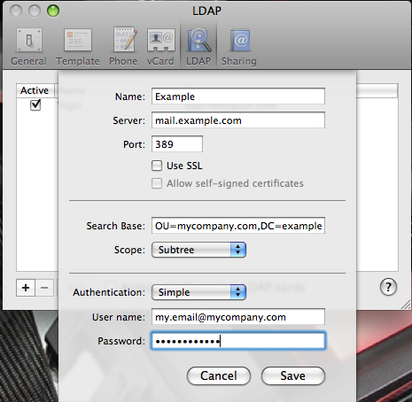 LDAP Preferences