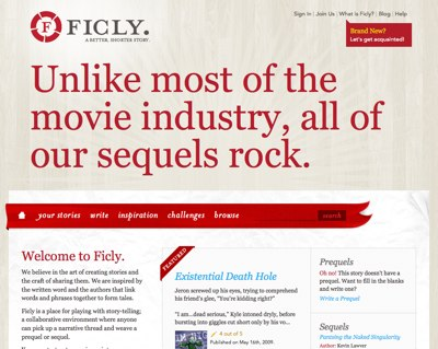 Ficly Home Page
