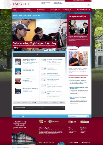 Lafayette College - After Redesign