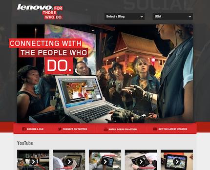 Lenovo Social homepage