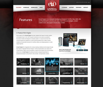 Unreal Technology Features Page