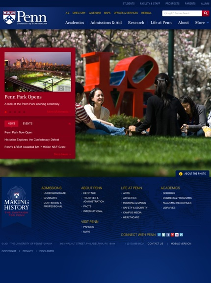 University of Pennsylvania Homepage