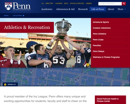 Life at Penn: Athletics & Recreation