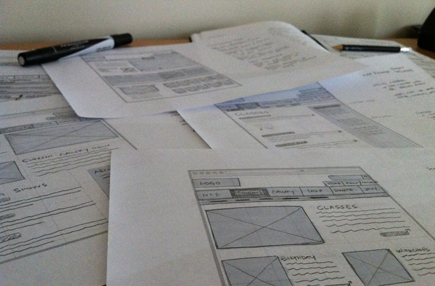 Stacks of Wireframes