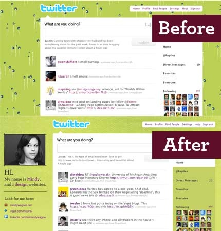 Twitter background design