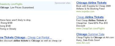 Bing ad results