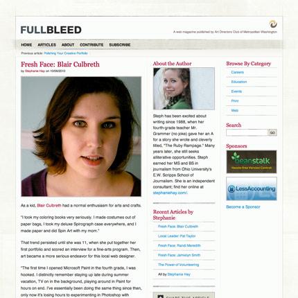Fresh Face: Blair Culbreth