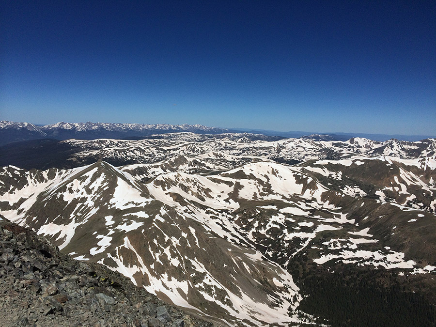 Mountain range view from Mt. Torreys