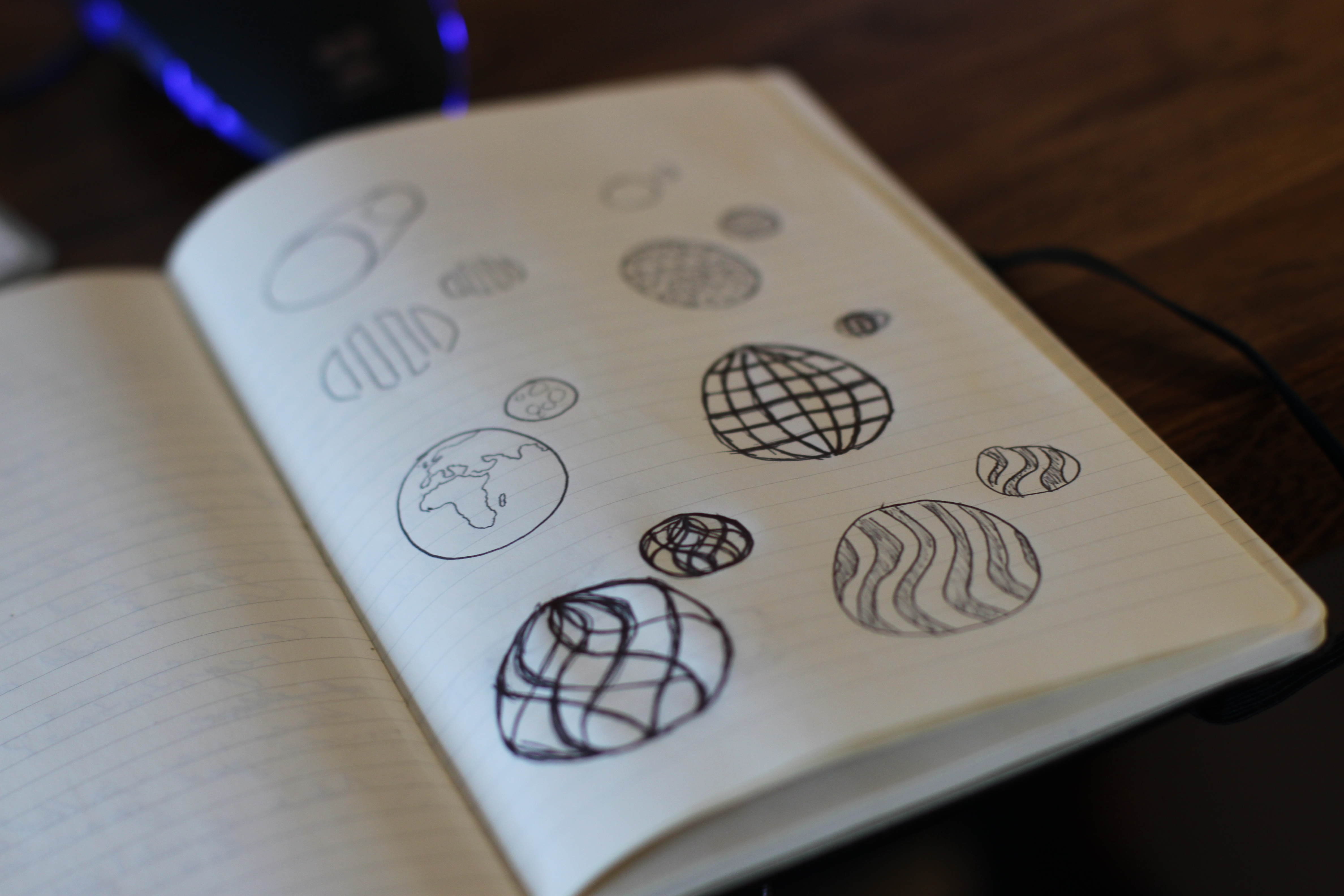 Sketch of 3D printed orbs