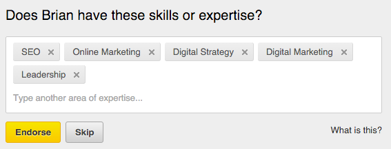 LinkedIn Skill Endorse
