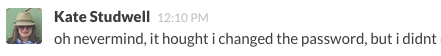 Another typo in Slack.