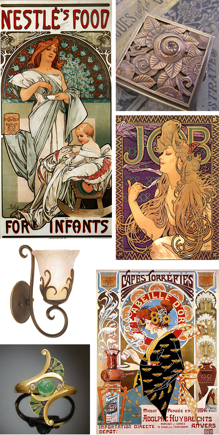 Art Movements And Web Trends And Gratuitous Mucha Posters