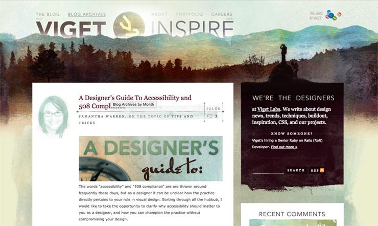 Viget blog design, 2009